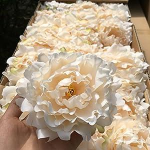 CoronationSun - Artificial Bouquet Peony - 20pcs/lot Artificial Peony Flower Head Wedding Party Christmas Decoration DIY Silk Flower Wall Background Decor Accessories 37