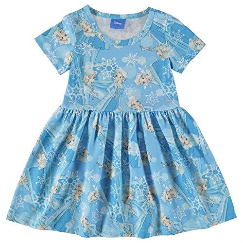 Disney - Vestido - Túnica - para niña Azul Claro 110 cm/116 cm-
