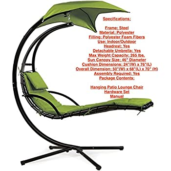 Amazon.com: Hanging Helicopter Dream Lounger Chair Arc ... on Hanging Helicopter Dream Lounger Chair id=86240