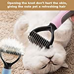 Aeska Pet Grooming Tool Dematting Comb for Dogs& Cats, [Safety] [Anti-slip] 2 Sided Skin-care Pet Supplies Tool for Dogs…