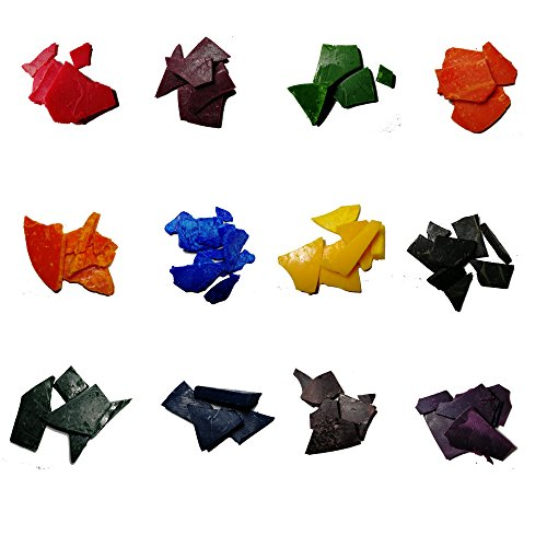 Dye Flake - Candle Dye - 12 colors Wax Dye- Dye Flakes for Candle Making Supplies Kit - 0.18 OZ Each Color - for Soy Candle Wax Kit – for Hemp Candle Wicks - for Making Scented Candles