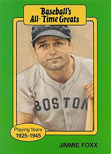 Jimmie Foxx Baseball Card Boston Red Sox 1987 Hygrade All