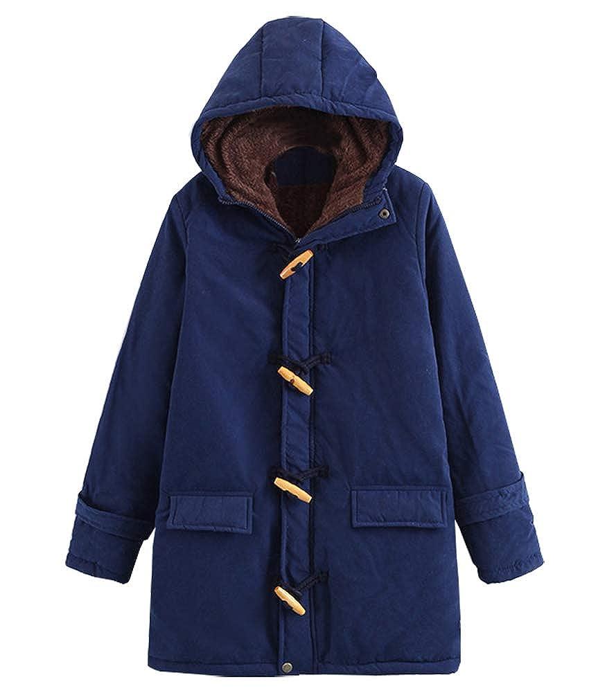 Navy bluee Kedera Women's Warm Winter Coat Hoodie Parkas Overcoat Fleece Outwear Jacket XSXL