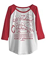 Ripple Junction National Lampoon's Christmas Vacation Fun Old Fashioned Griswold Fam Christmas Junior Baseball Raglan 3/4 Sleeve