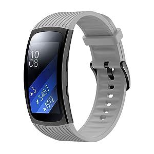 TOPsic riem voor Gear Fit 2/Gear Fit 2 Pro riem, vervanging Silicone Band Horlogebandjes voor Gear Fit 2 Pro SM-R365/Gear Fit 2 SM-R360 Smartwatch