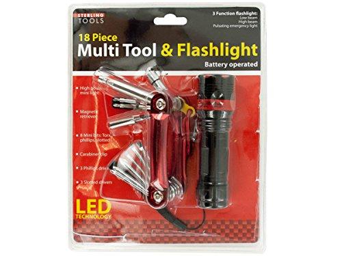 Kole Imports OF972 Multi Tool & 3 Function Flashlight (Cld Three Light)