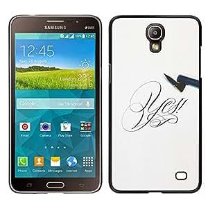 EJOY---Cubierta de la caja de protección para la piel dura ** Samsung Galaxy Mega 2 ** --Decir que sí