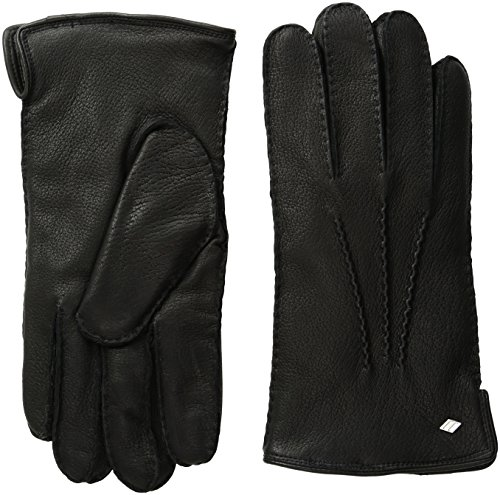 (GII Men's Supple Deerskin Gloves with Baby Cable Cashmere Lining, Black X-Large)