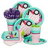 Costume SuperCenter Spa Birthday Party Supplies Standard Tableware Kit (Serves 8)