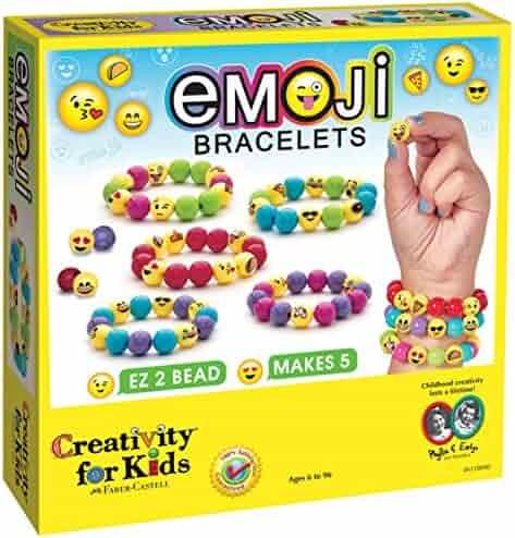 Creativity for Kids Emoji Bead Bracelet Craft Kit - Makes 5 Emoji Bracelets