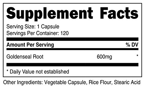 Nutricost Goldenseal Root 600mg, 120 Capsules (3 Bottles) - Non-GMO, Gluten Free, Veggie Caps by Nutricost (Image #1)