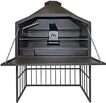 Barbacoa Braai 1200 Megamaster, independiente con bastidor inferior y chimenea: Amazon.es: Jardín