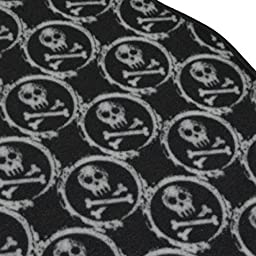 BDK Monogram Skull Carpet Floor Mats for Car SUV - 4 Piece Set, Licensed Prodcuts, Secure Backing