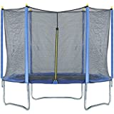 Trampoline, High Quality Kids Outdoor Trampolines Jump Bed With Safety Enclosure Exercise Fitness Equipment