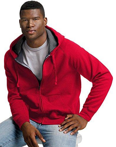 Hanes Men's Nano Premium Lightweight Full Zip Hoodie Deep Re