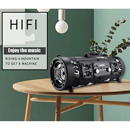 Stylish and Practical Outdoor Portable Bluetooth Speaker Subwoofer Multifunction Card Microphone Sound Barrel CZYCO(C)