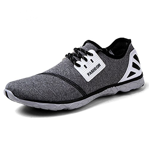 BEACHR Summer Men's Quick-Drying Breathable Super-Lightweight Beach Shoes Men's Sneakers grayblack 8 by BEACHR