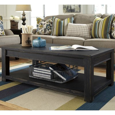 Amazoncom Beachcrest Home Calvin Coffee Table Solid Wood In Black - Calvin coffee table