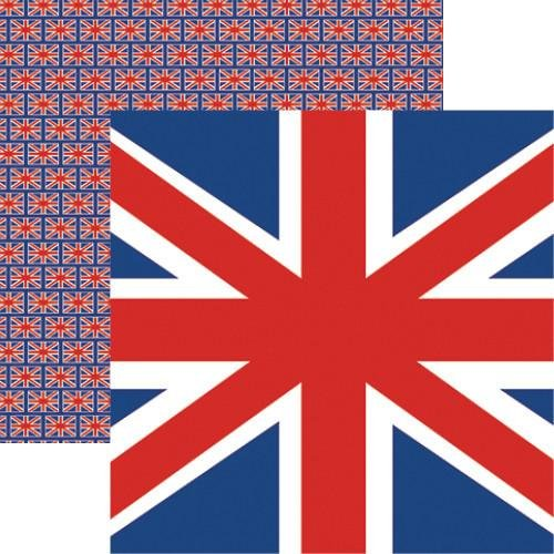 British Flag - London - 12X12 Scrapbook Papers by Reminisce - 5 Sheets