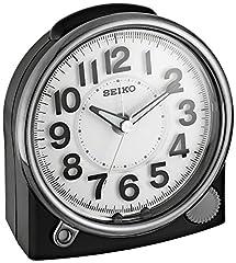 Seiko 'Bedside' Black Plastic Resin Arabic Numerals Alarm Clock QHE143JLH