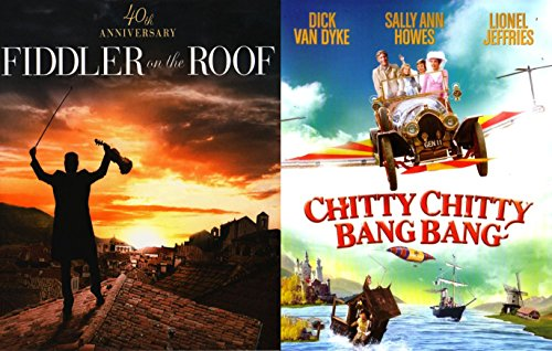 Chitty Chitty Bang Bang & Fiddler on the Roof Musical DVD Set / Classic Family Movie Bundle Double Feature