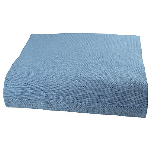 Sigmatex BK741084SGBL Healthcare Thermal Spread Blanket, Snag Free, 55% Cotton/45% Polyester, 74'' Width 108'' Length, 4.0 lb/ea., Blue, (12 ea) by Sigmatex