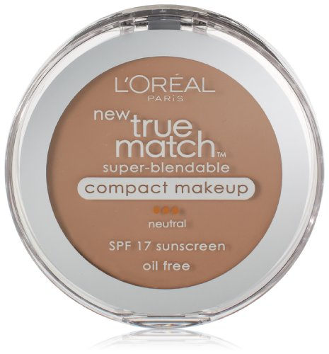 - L'Oreal Paris True Match Super-Blendable Compact Makeup, Honey Beige, 0.3 oz.