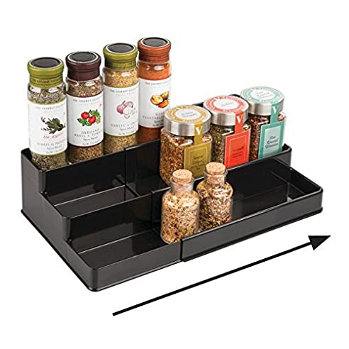 mDesign Gewürzregal für Küchenschrank – ausziehbare ...