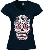 America's Finest Apparel Patriot Sugar Skull Shirt - Women's