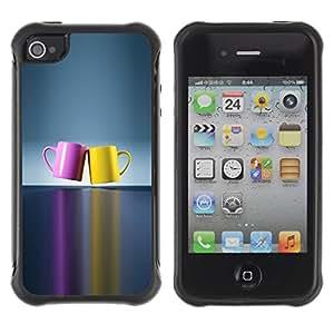 Suave TPU Caso Carcasa de Caucho Funda para Apple Iphone 4 / 4S / chashka posuda cvet para / STRONG