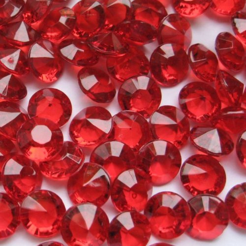 500 Ruby Red Wedding Table Scatter Diamonds 10mm