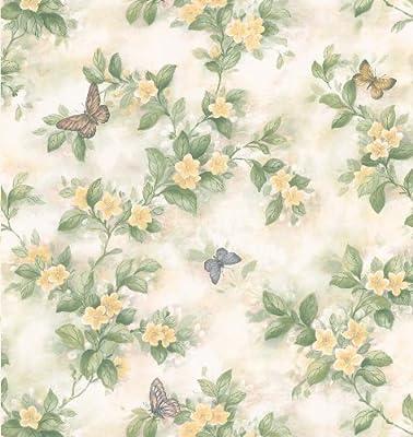 Brewster Kitchen Bath Bed Resource III Butterfly Floral Wallpaper