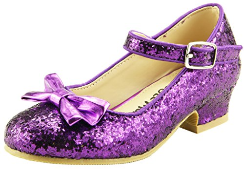 The Doll Maker Bow Top Glitter Strap - Shoes Doll Flats