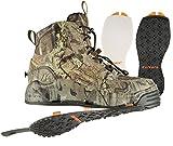 Korkers Ambush Wading Boot with Felt & Kling-On Soles, Mossy Oak Break-up Infinity, Size 13