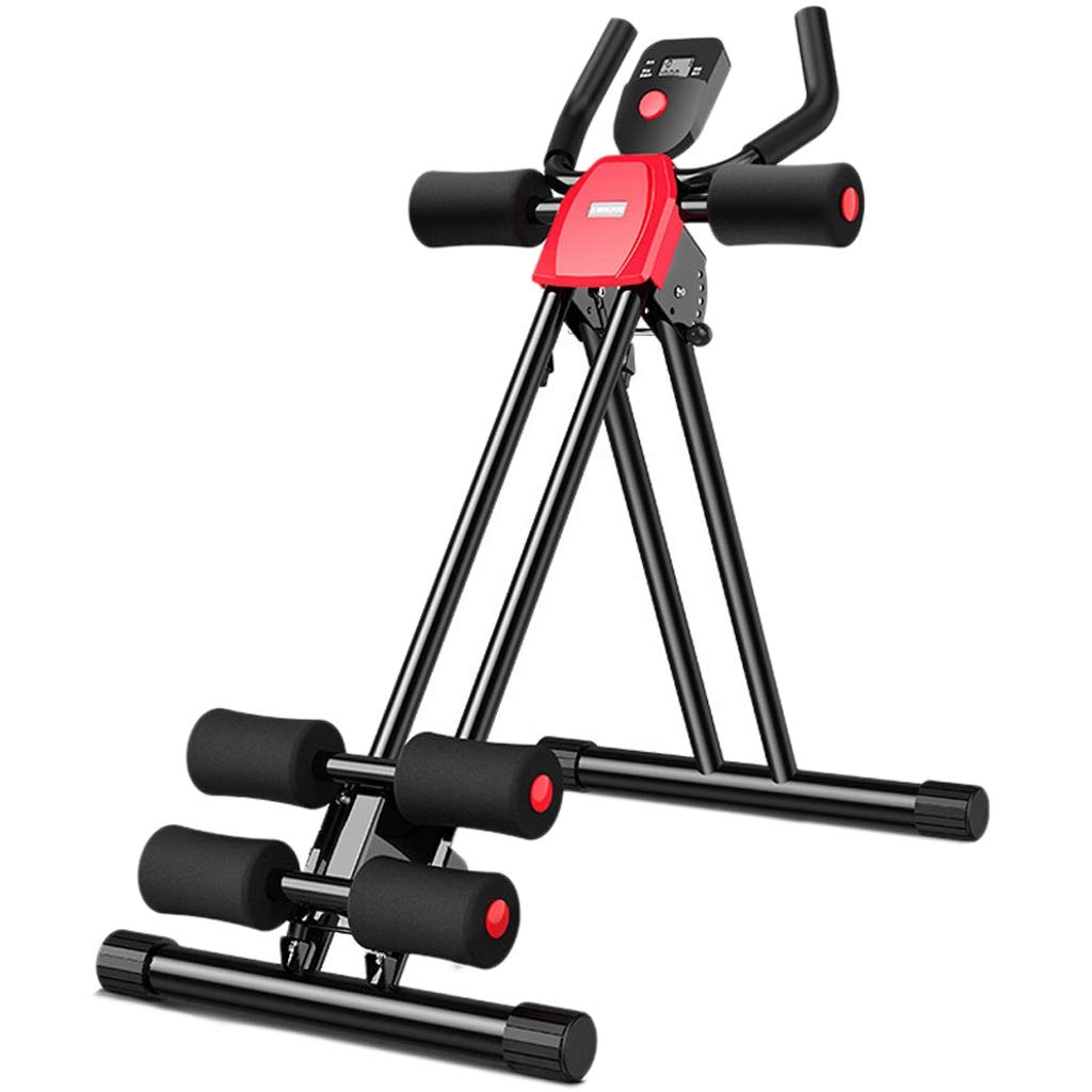 Queen Boutiques Keep fit Foldable Abdominal Trainer Sturdy Ab Coaster Glider Machine Vertical Fitness Equipment Plank Cruncher Core Exercise Machine Fitness by Queen Boutiques