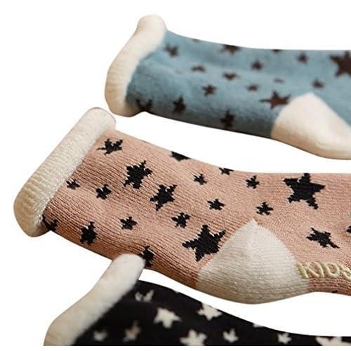 3 Pair Baby Super Warm Fuzzy Soft Thick Socks