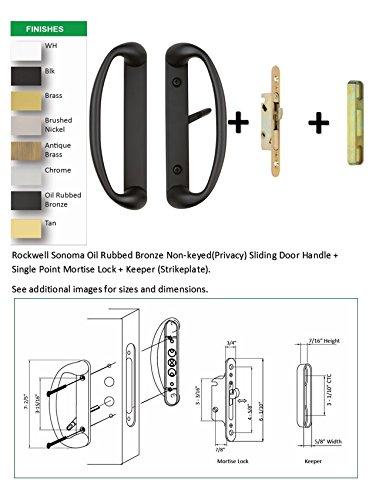 Rockwell Sonoma Sliding Door Handle Set with 3-15/16