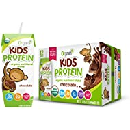 Orgain Kids Protein Organic Nutritional Shake, Chocolate, Gluten Free, Kosher, Non-GMO, 8.25 Ounce, Pack of 12