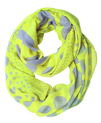 Peach Couture Vintage Multicolored Classic Bright Polka Dot Infinity Loop Scarf (Lime and - Multi Scarf Dot Polka Colored