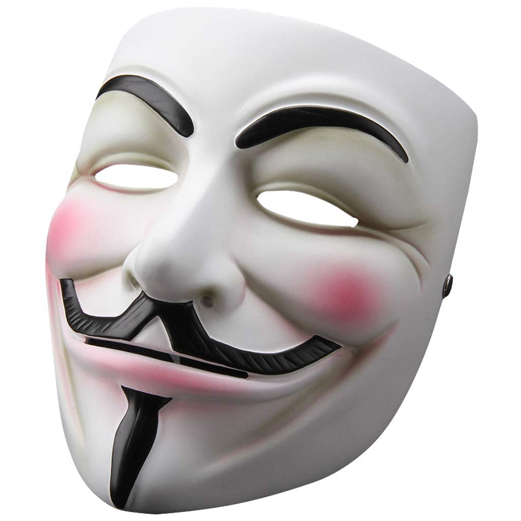 V for Vendetta Anonymous Guy Fawkes Resin Cosplay Mask Party Costume Prop Toys White by ZLLJH (Image #5)