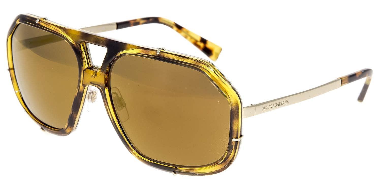 a83de891d7 Amazon.com  DOLCE   GABBANA GRIFFE Camo Havana Gold Copper Mirror DG2167  Sunglasses 2167  Clothing
