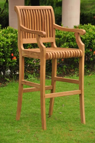 New Grade A Teak Wood Outdoor Patio Bar Arm Chair only (Cushions Sold Separately ) #WHBRAC (Patio Bar Avignon)