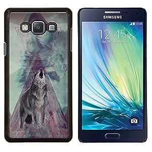 - Wolf Retro - - Cubierta del caso de impacto con el patr??n Art Designs FOR Samsung Galaxy A7 Queen Pattern