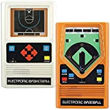 Schylling Associates Inc (Set) Classic Retro Electronic Baseball and Basketball Hand Held Games For Sale