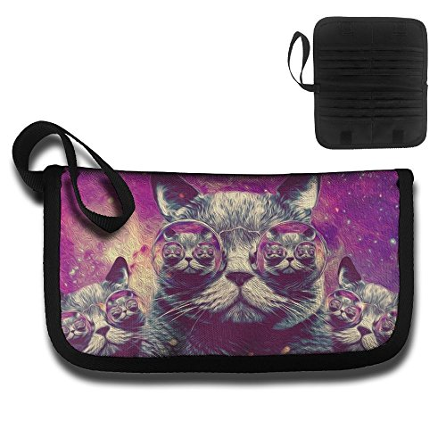 Credential Bag Card Protector Clutch Bag Funny Sunglasses Cat Is In The Glasses Storage Bags Toiletry - Sunglasses Hermes