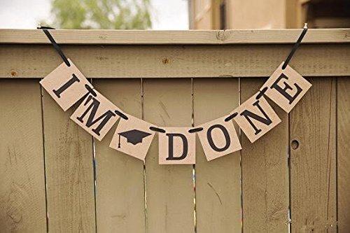 "Graduation Banner, ""I'm Done"", Graduation Party Decorations"