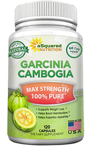 100% Pure Garcinia Cambogia Extract (120 Capsules) Ultra High Strength 80% HCA, Natural Weight Loss Diet Pills XT, Extreme Fat Burner Slim & Detox Max, Blocker Supplement for Men & Women, Made in USA