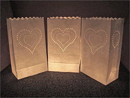 Amazon.com: CleverDelights blanco bolsas para velas – 10 ...