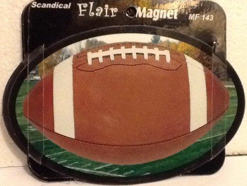 HUGE Variety: Scandical Flair Magnet for Fridge, Car, Locker, Ec.... Personality! Statement!! (0/ Football) (Football Refrigerator)