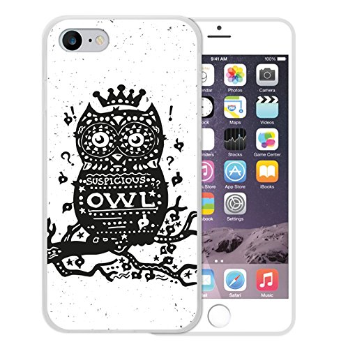 iPhone 8 Hülle, WoowCase Handyhülle Silikon für [ iPhone 8 ] Oldtimer Eule Handytasche Handy Cover Case Schutzhülle Flexible TPU - Transparent